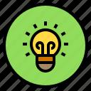 idea, lamp, marketing, thinking icon