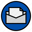 data, mail, marketing, transfer icon