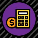 calculator, marketing, money, sale