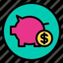 financial, marketing, money, save icon