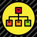 diagram, marketing, network, plan icon