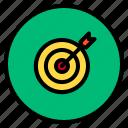 marketing, success, target, win icon