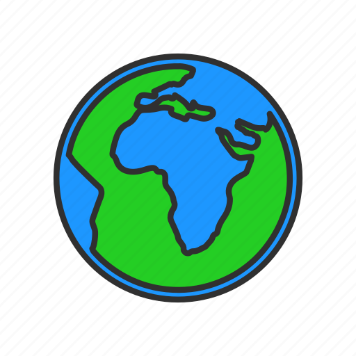 continents globe map world icon