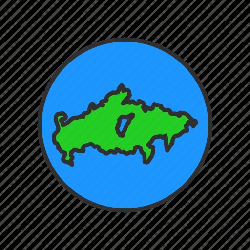 antartica, globe, map, world icon