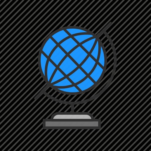 globe, map, network, world icon