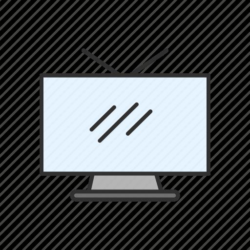 flat screen, media, television, tv icon