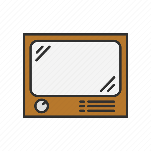 marketing, media, old tv, television icon