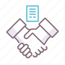 agreement, contract, negotiation icon