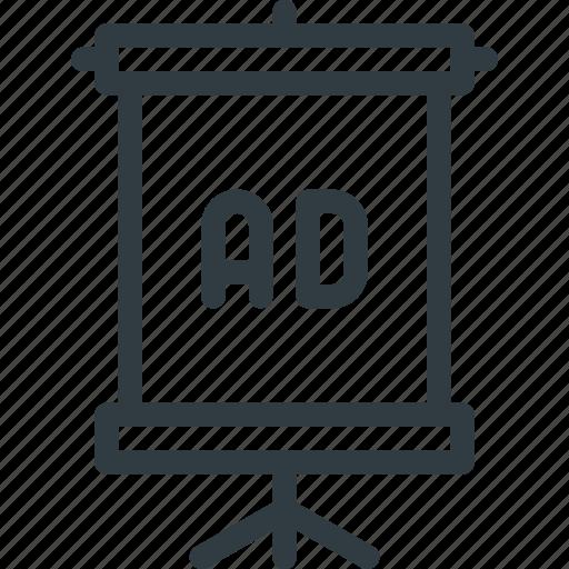 ad, banner, marketing, street icon