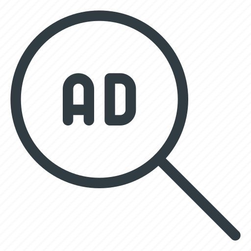 ad, ads, advertising, for, marketing, search icon
