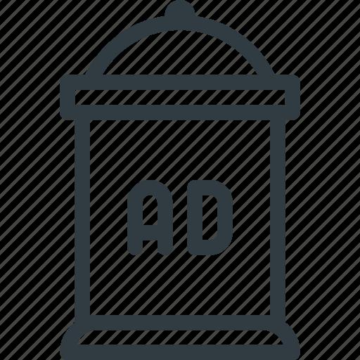 ad, advertising, column, marketing icon