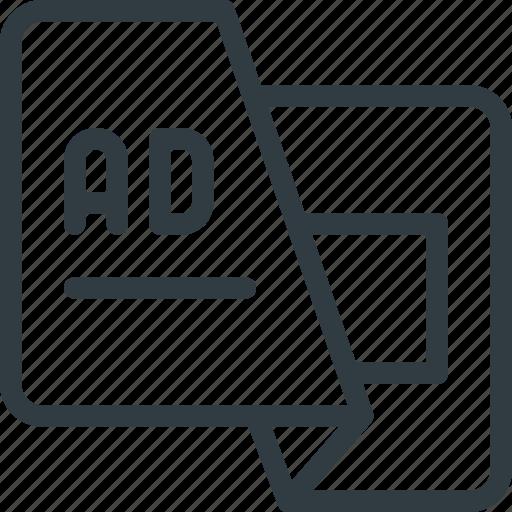 ad, advertising, leaflet, marketing icon