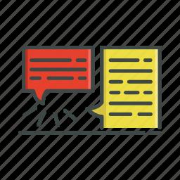 chat, conversation, social, speak, speech bubble, text icon