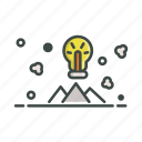 creative, idea, mountain, strategy icon