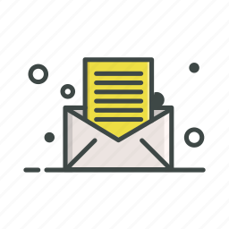 file, letter, mail, newsletter, text icon
