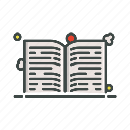 book, information, open, read, research icon