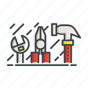 patent, hammer, tools, wrench icon