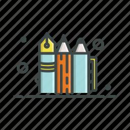 ballpoint, crayon, pen, pencil, tools, writing icon