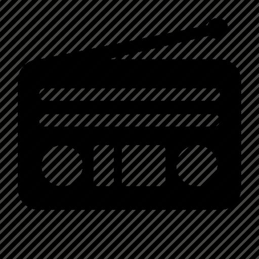 antenna, fm radio, radio, radio set, transmission, vintage radio icon