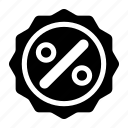 discount, discount badge, percent, sale, sale badge, sale label icon