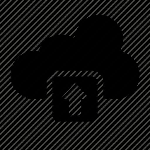 clouds, computing, data, storage, upload, weather icon