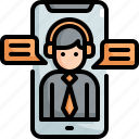 chat, customer, mobile, service, services, smartphone, support icon