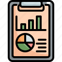 analytics, chart, clipboard, finance, graph, report, statistics icon