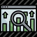 analytics, chart, finance, marketing, profit, seo, web icon