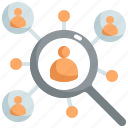 find, friend, marketing, people, person, search, seo icon