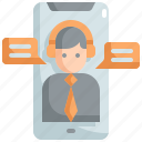 customer, help, mobile, online, service, services, support icon