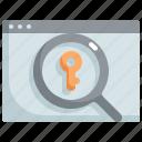 key, keyword, marketing, search, seo, web, website icon