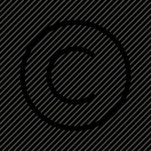 copyright, right, trademark icon