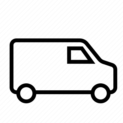 delivery, shipping, transport, van icon