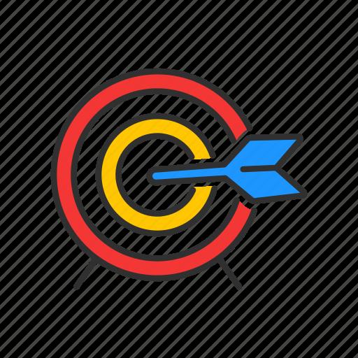 bulls eye, goal, marketing, target icon