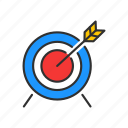 bulls eye, goal, marketing, target icon