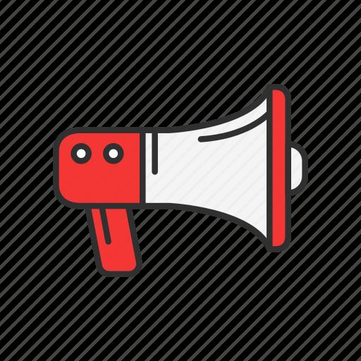 announcement, loudspeaker, megaphone, phone icon
