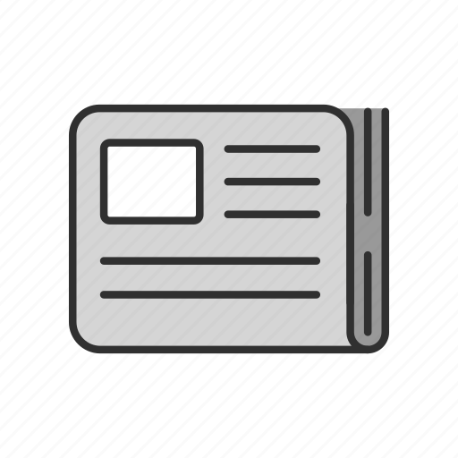 events, news, newspaper, paper icon