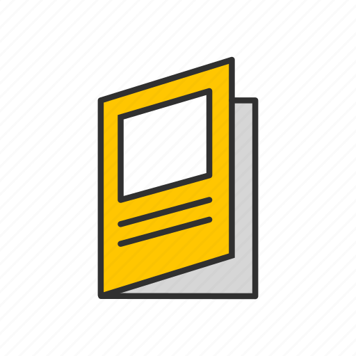 book, brochure, list, notes icon