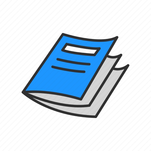 books, brochures, list, notes icon