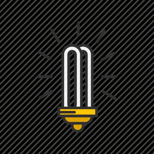 bulb, idea, light, spiral bulb icon