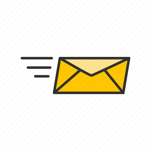 envelope, fast email, letter, message icon