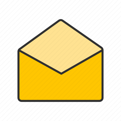 email, letter, message, open envelope icon
