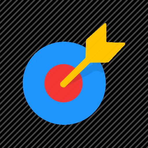 arrow, dart, dart board, target icon