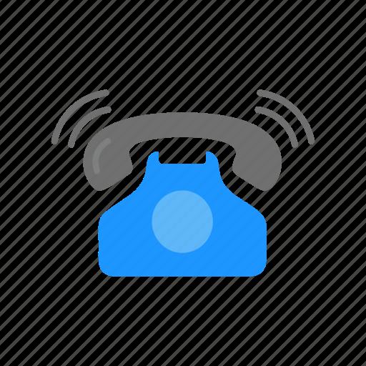 Landline, phone, phone ringing, telephone icon - Download on Iconfinder