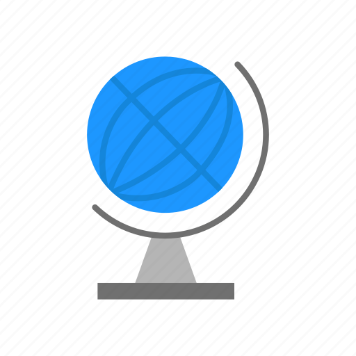 globe, internet browser, map, world map icon