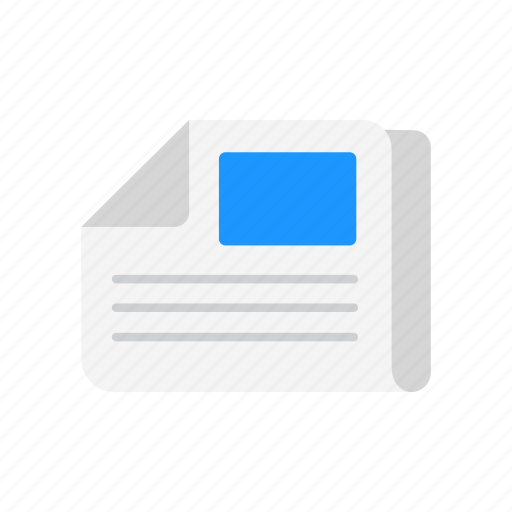 front page, headline, letter, news paper icon