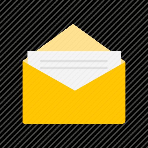 envelope, letter, message, open letter icon