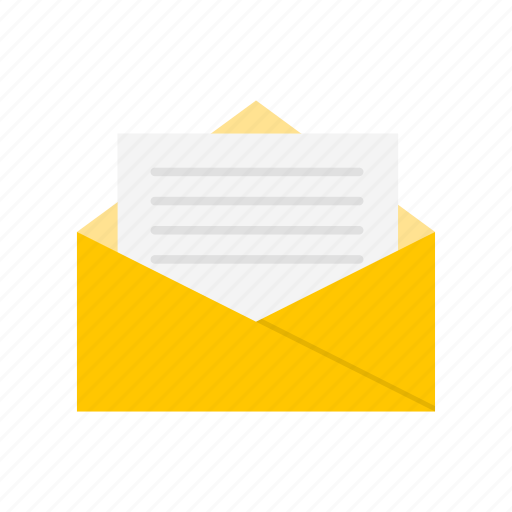 e - mail, letter, mail, open letter icon