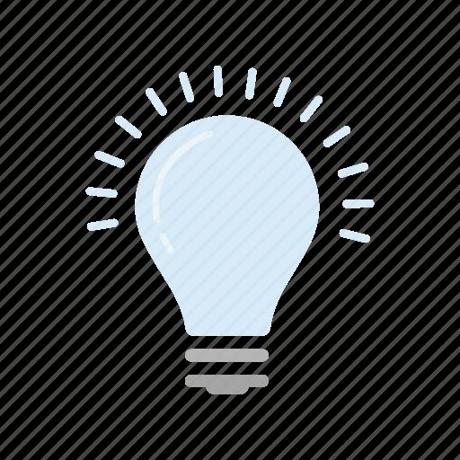 bulb, idea, light, light bulb icon