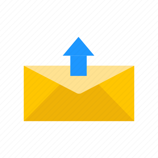Arrow up, letter, send mail, send message icon - Download on Iconfinder